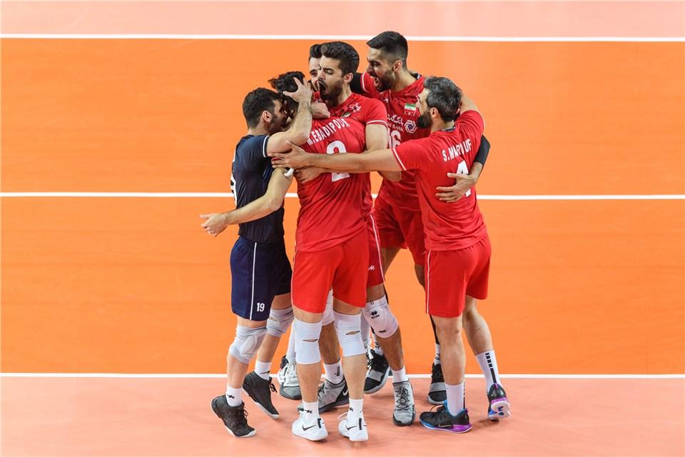 تصاویر/ شکست والیبال ایران از لهستان در شیکاگو
